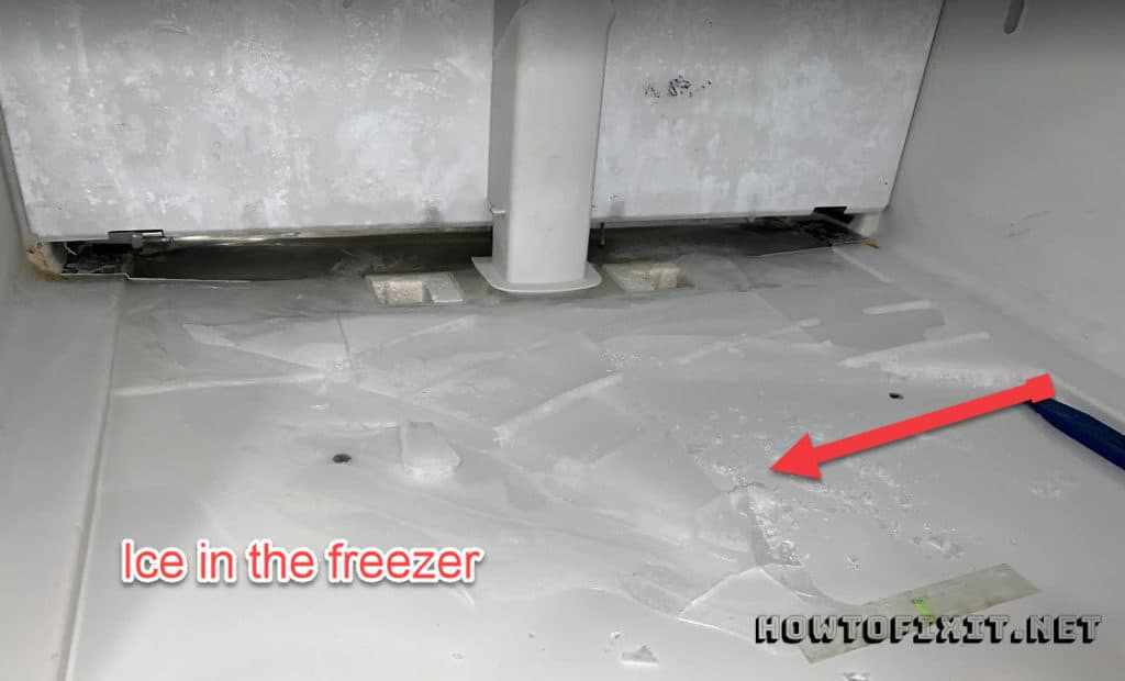 Freezer leaking water on the floor