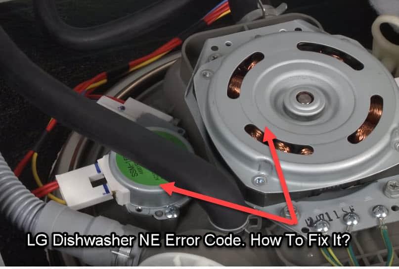 What means NE error code on LG dishwasher?