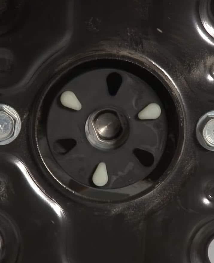 Washer motor coupling location
