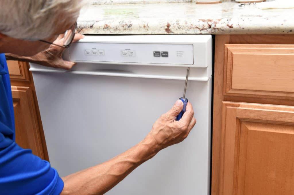 dishwasher panel touchpad